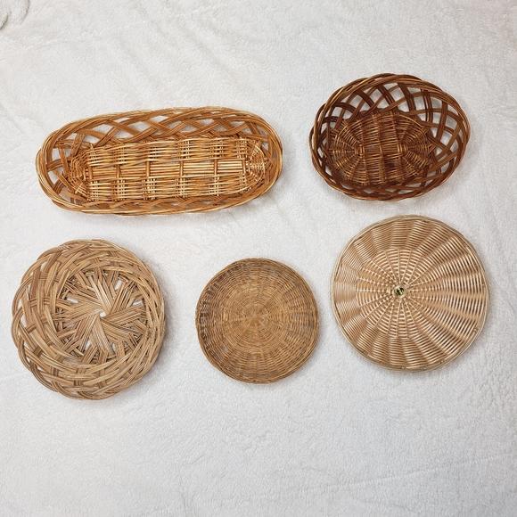 DIY Statement Basket Wall Home Decor Set of 5